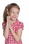 Shy Pretty Little Girl