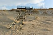 Sandy Seacoast Of Curonian Spit In Winter