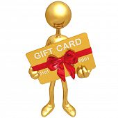 Gold Guy With Gift Card