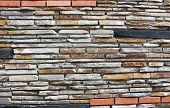 Interesting Modern Stone Wall Lined With A Variety Of Texture
