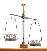 Scale Showing The Balance Of Work And Family