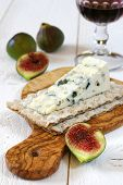 French Blue Cheese, Red Wine And Ripe Figs