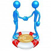 Handshake Lifebuoy Euro Concept