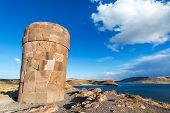 Pre Incan Funerary Tower At Sillustani