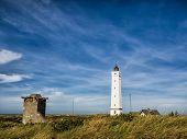 Lighthouse In Blaavand At The Dansih North Sea Coast