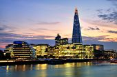 London Cityscape With New City Hall And The Shard