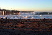 Ocean Wave Storm Pier