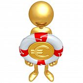Gold Guy With Lifebuoy Euro Coin