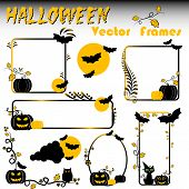 Holiday Frame On Theme Halloween With Field For Text