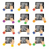 Tablet touch gestures