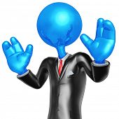 3D Businessman Presenter Character