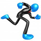 3D Businessman Character Running