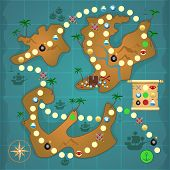 Pirates treasure island game