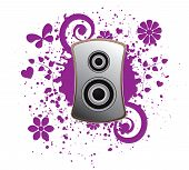 Abstract music background,vector