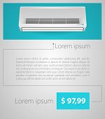 Flat vector minimalist template business design. Air conditioner.