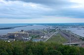 Aerial Of Twin Ports In Duluth Superior