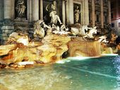 Roma italy  trevi Fountain