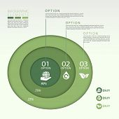 Modern Eco Concept Pie Chart Infographic Elements