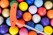 Mini Golf Balls And Club