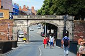 Chester city wall arch.