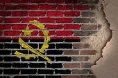 Dark Brick Wall With Plaster - Angola