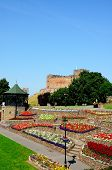 Tamworth castle and gardens.