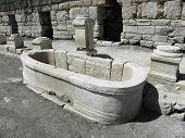 Antique fountain in Kibyra.