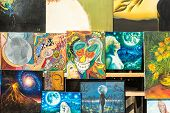Abstract Art Paintings Display