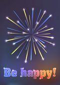 firework illustration - be happy!