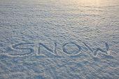 Snow Writing Word