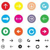 Arrow Sign Vector Icon Set