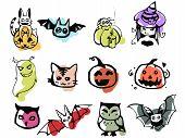 Colorful Halloween Set