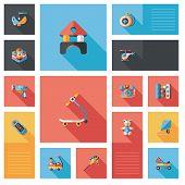 Kid Toys Flat Ui Background,eps10