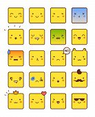 image of angry smiley  - Vector icons of smiley faces - JPG