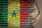 Dark Brick Wall With Plaster - Senegal