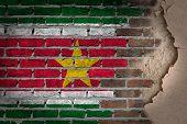 Dark Brick Wall With Plaster - Suriname