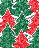 trees red and green pattern