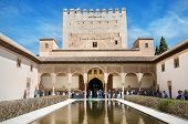 Some Tourist Visiting Famous Alhambra Palace.