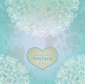 Aquamarine template design for card.
