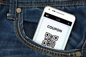 Mobile Phone With Discount Coupon In Pocket