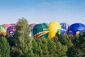 Minsk, Belarus. 13-september-2014: Hot Air Baloon At The Championship Of Belarus