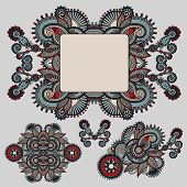 ethnic ornamental floral adornment and frame design