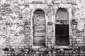 Old Brick Wall Of Monochrome Tone