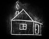 Home Sign Like Symbol Of A Real Estate Market