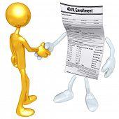 Gold Guy 401K Form Handshake