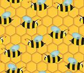 Beehive Seamless Pattern