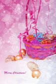 Christmas Basket Card