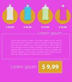 Flat vector minimalist template business design. Liquid Soap.