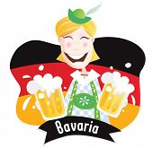 Oktoberfest (Bavarian male with beer)