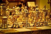 Golden Chess Figures